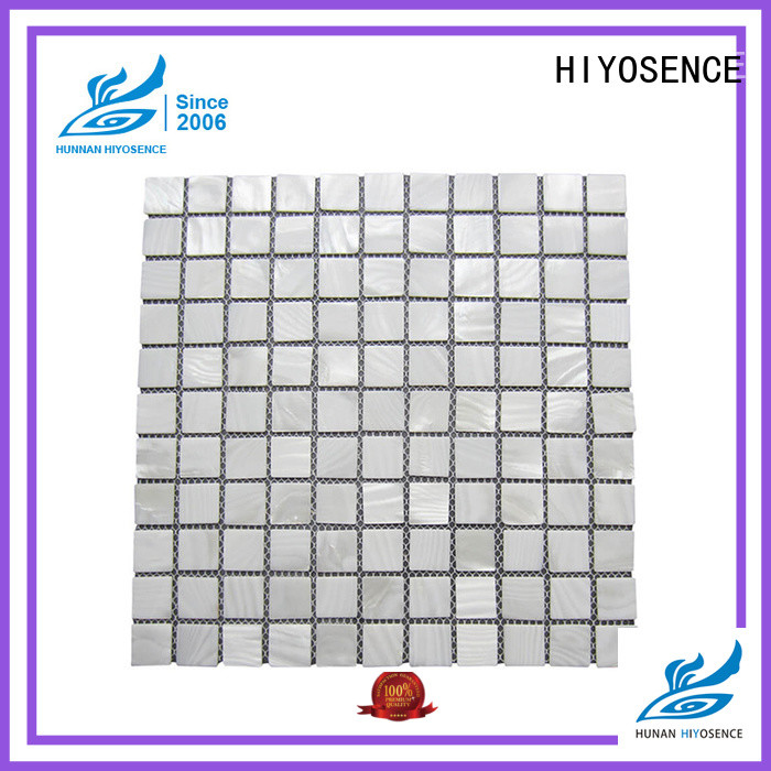 HIYOSENCE luxury white hexagon tile marketing
