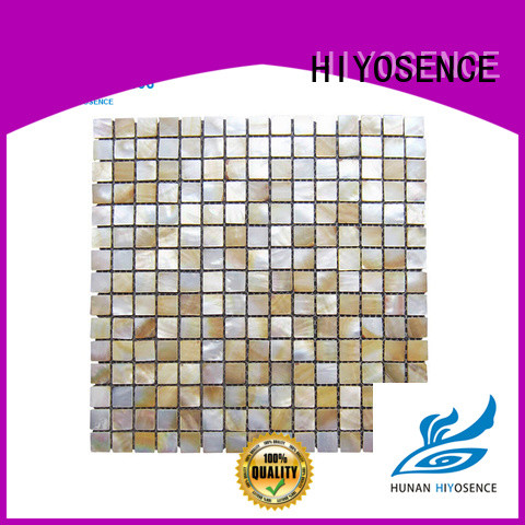 HIYOSENCE widely used mother of pearl floor tile marketing for toilet
