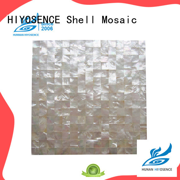HIYOSENCE luxury mother of pearl shell tile factory price for swimming pool
