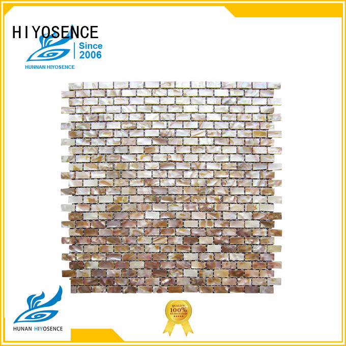 HIYOSENCE mother of pearl wall tiles overseas market for toilet