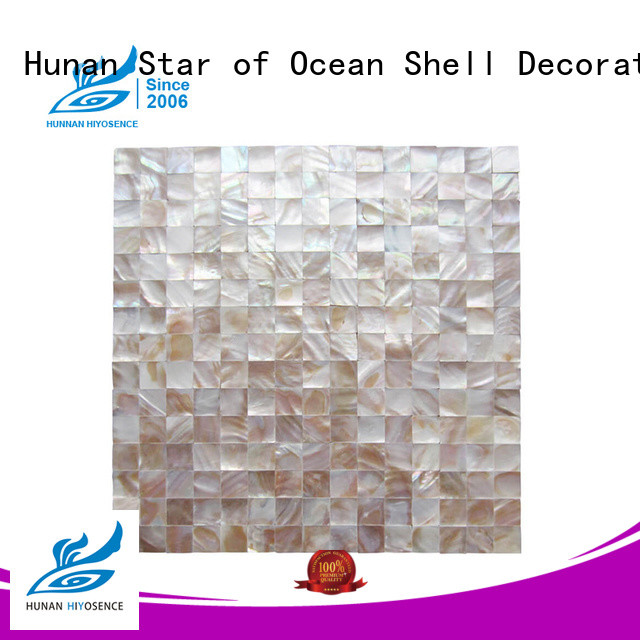 HIYOSENCE inexpensive Fan-shaped shell mosaic tile overseas market for living room