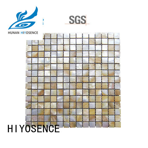 HIYOSENCE luxury shell mosaic with joint with good price for swimming pool
