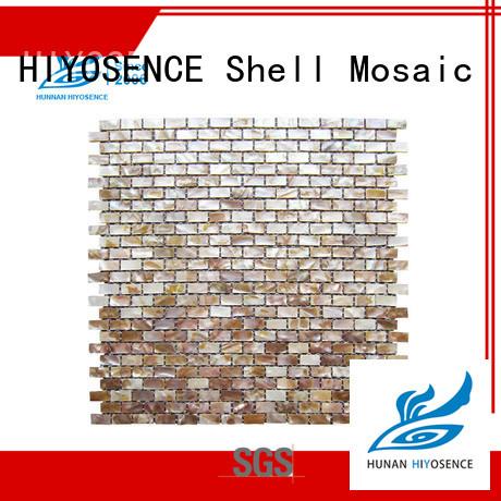 HIYOSENCE fashion design white mosaic tile overseas market
