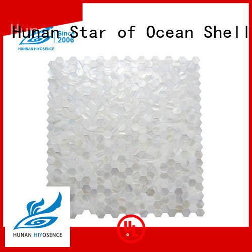 HIYOSENCE pearl glass mosaic tile marketing for toilet
