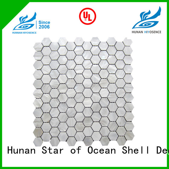 HIYOSENCE pearl shell mosaic tile with good price for living room