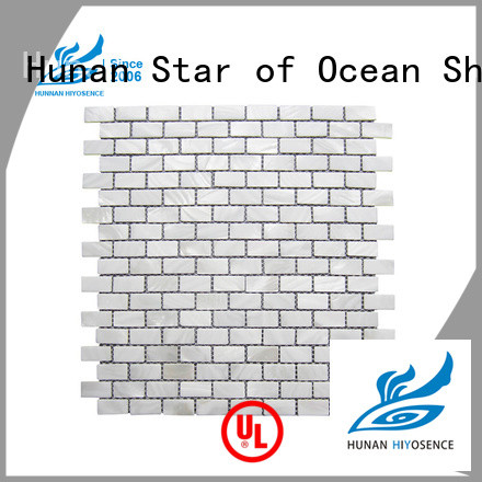 HIYOSENCE inexpensive pearl shell tile factory price for living room