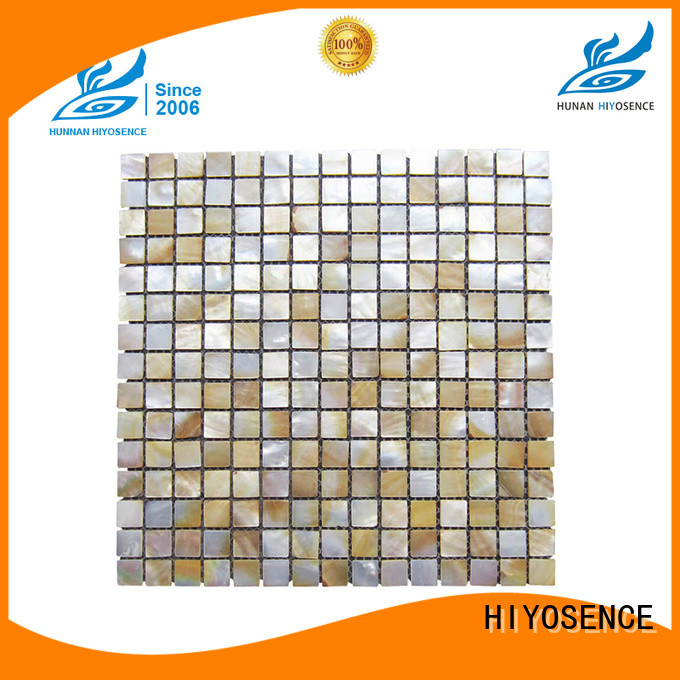 HIYOSENCE natural mother of pearl wall tiles marketing for living room