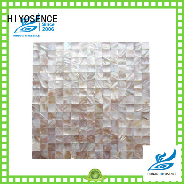 HIYOSENCE Fan-shaped shell mosaic tile factory price for hotel