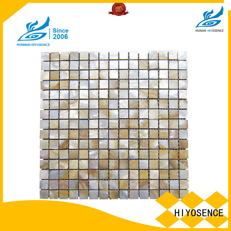 HIYOSENCE fashion design mother of pearl herringbone tile overseas market
