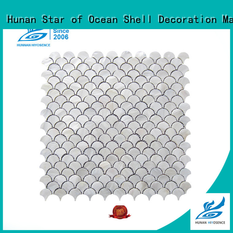 HIYOSENCE fashion design shell mosaic with joint with good price for swimming pool