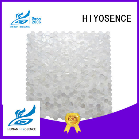HIYOSENCE Fan-shaped shell mosaic tile overseas market for decoration