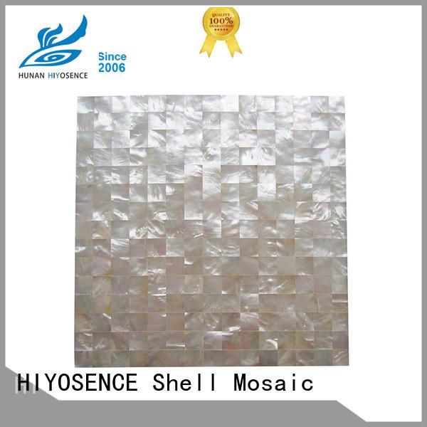 HIYOSENCE shell tile backsplash supplier for decoration
