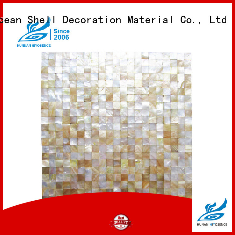 HIYOSENCE mother of pearl mosaic bathroom tiles factory price for toilet