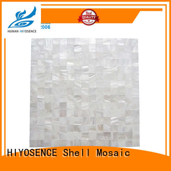 HIYOSENCE natural Oval mother of pearl tiles marketing for toilet