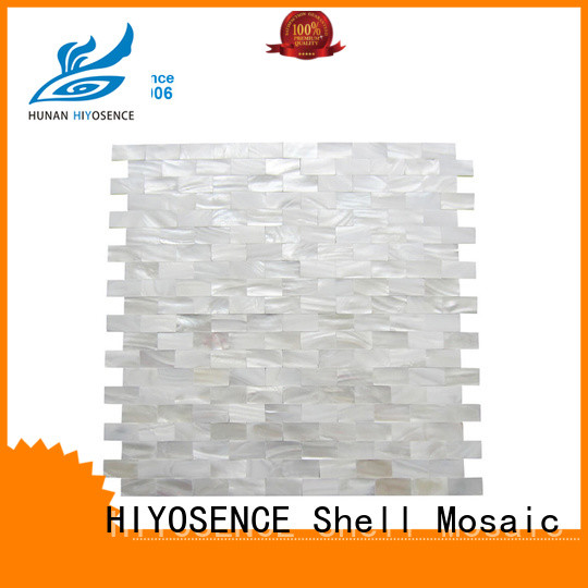 HIYOSENCE fashion pearl white backsplash tile with good price for living room