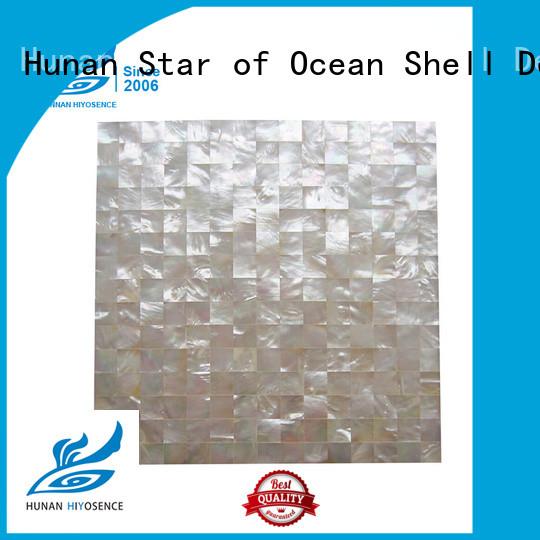 shell tile backsplash factory price for swimming pool HIYOSENCE