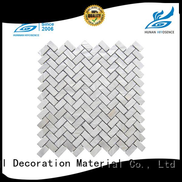HIYOSENCE seashell mosaic factory price for hotel