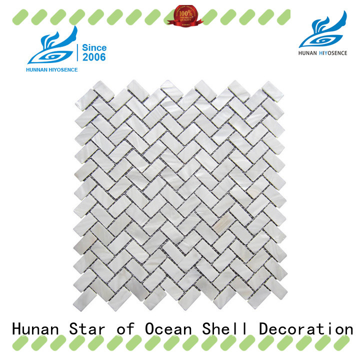 HIYOSENCE mother of pearl wall tiles factory price for toilet