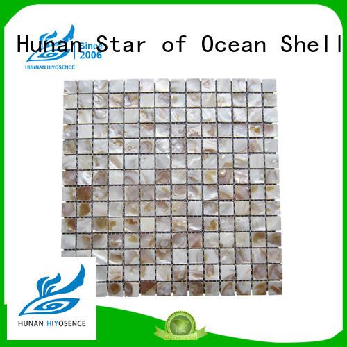 seashell mosaic with good price for swimming pool HIYOSENCE