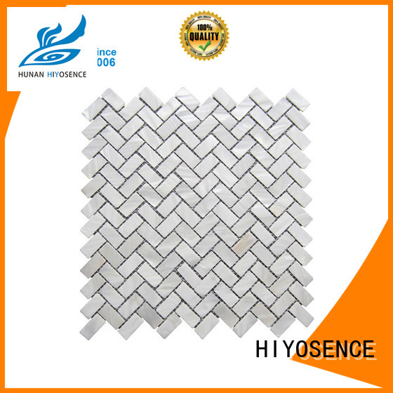 widely used white mosaic tile factory price for living room