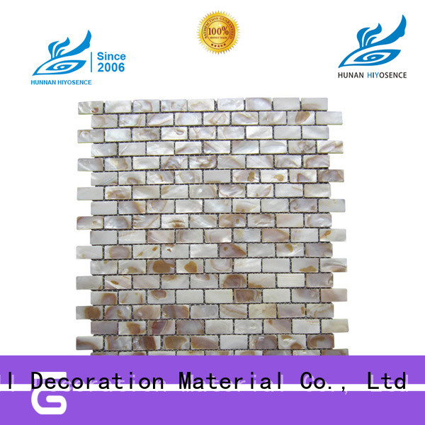 HIYOSENCE good quality mother of pearl wall tiles overseas market for swimming pool