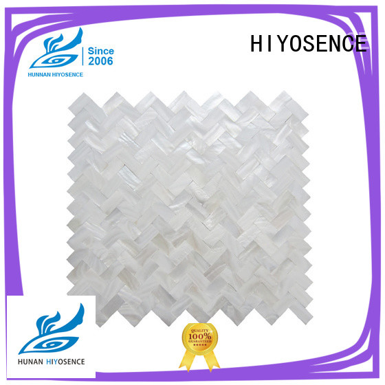 HIYOSENCE affordable price mother of pearl tile kitchen overseas market for decoration