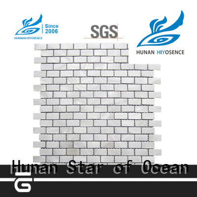 HIYOSENCE inexpensive pearl mosaic tile factory price for decoration