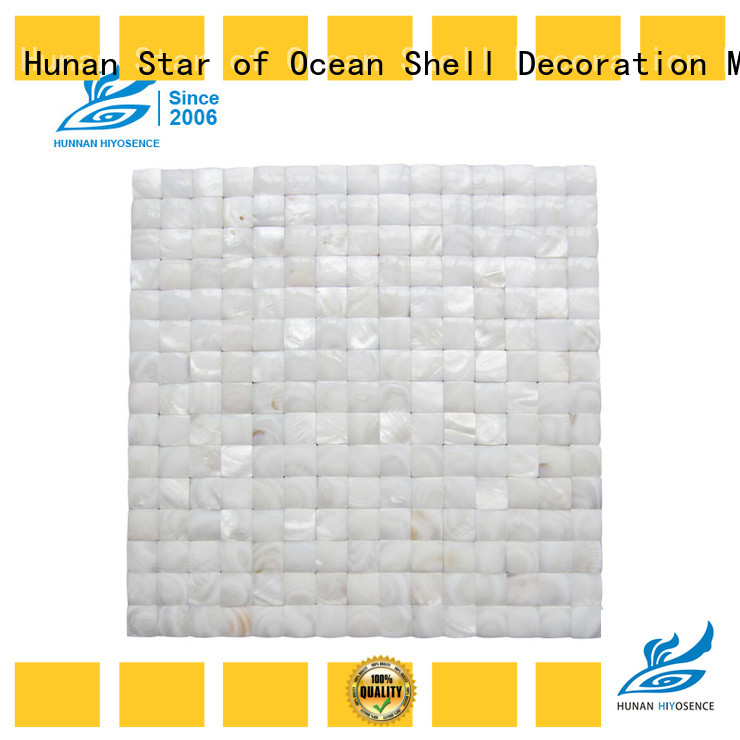 HIYOSENCE rhombus mother of pearl tiles with good price for decoration