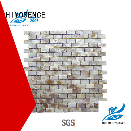HIYOSENCE high quality pearl mosaic tile factory price for decoration