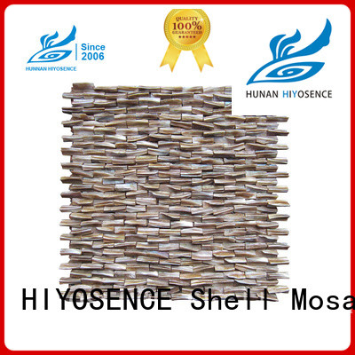 HIYOSENCE mother of pearl mosaic bathroom tiles factory price for hotel