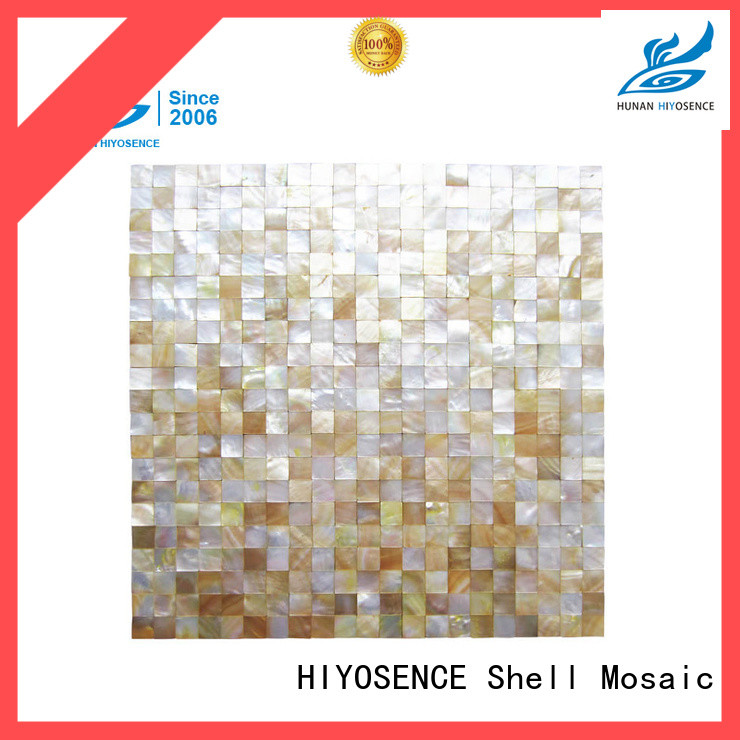 HIYOSENCE mother of pearl tile kitchen marketing for hotel