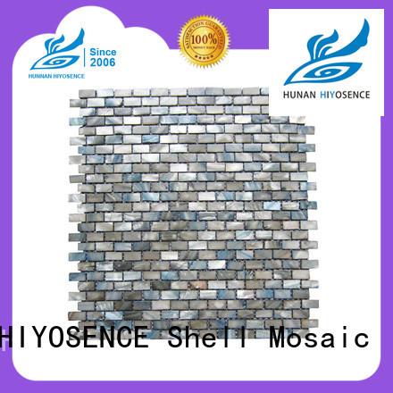 HIYOSENCE widely used mother of pearl herringbone tile marketing for decoration