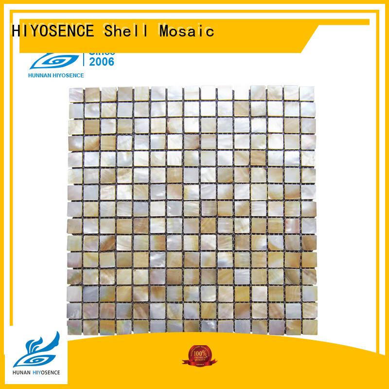 HIYOSENCE durable mother of pearl wall tiles overseas market