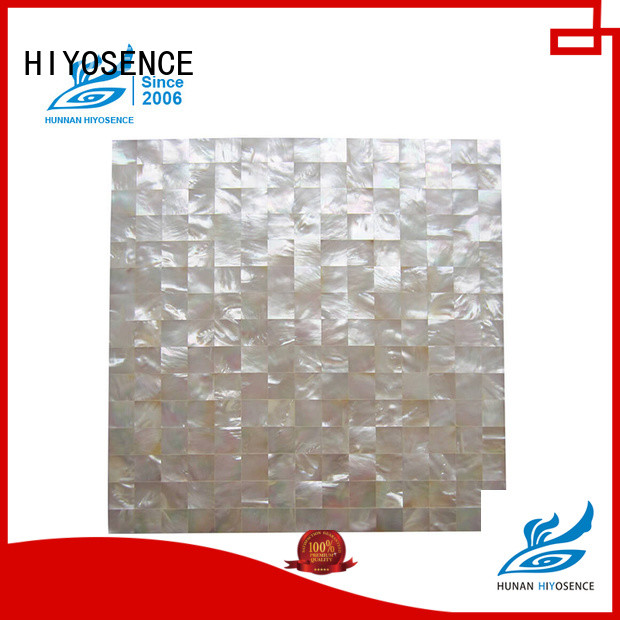 HIYOSENCE mother of pearl shell tile bulk production for living room