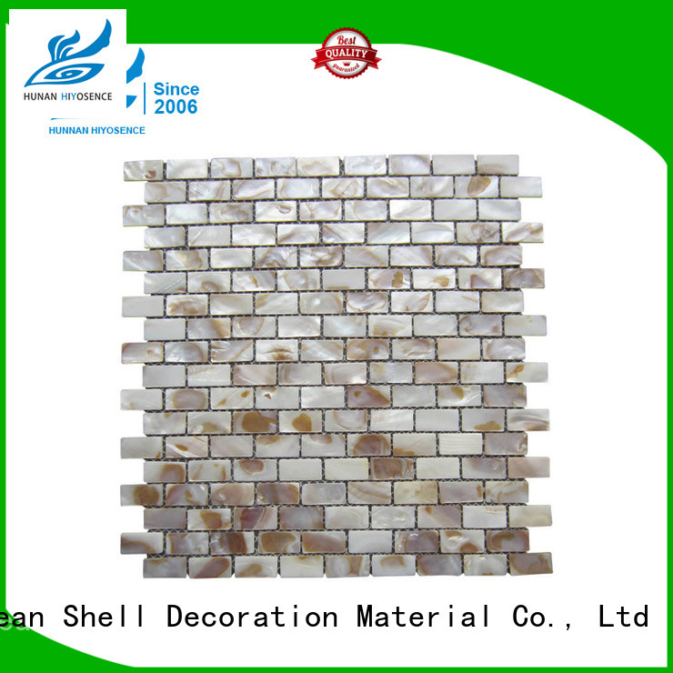 HIYOSENCE luxury pearl shell tile with good price for decoration