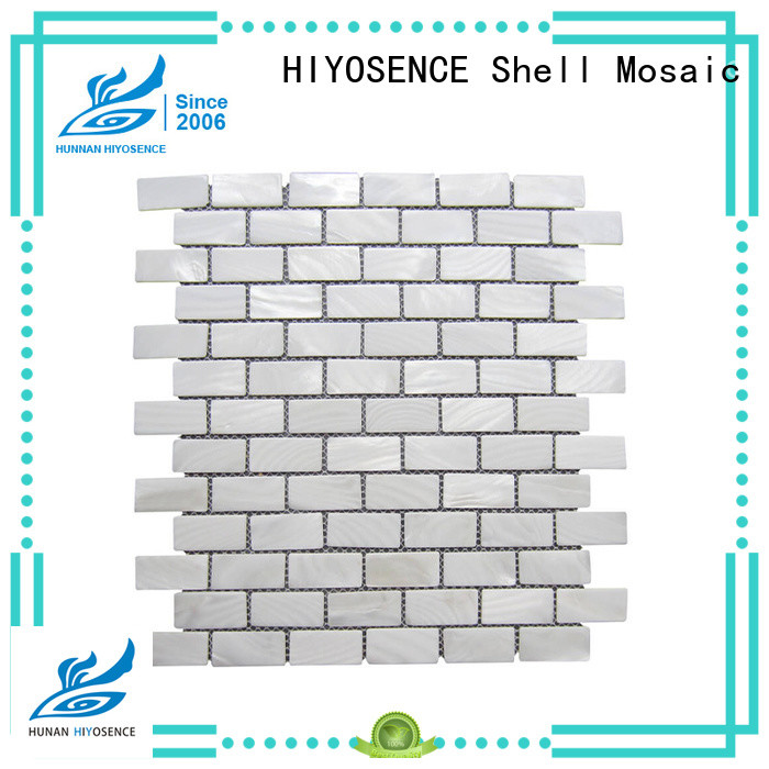 HIYOSENCE shell mosaic marketing for swimming pool