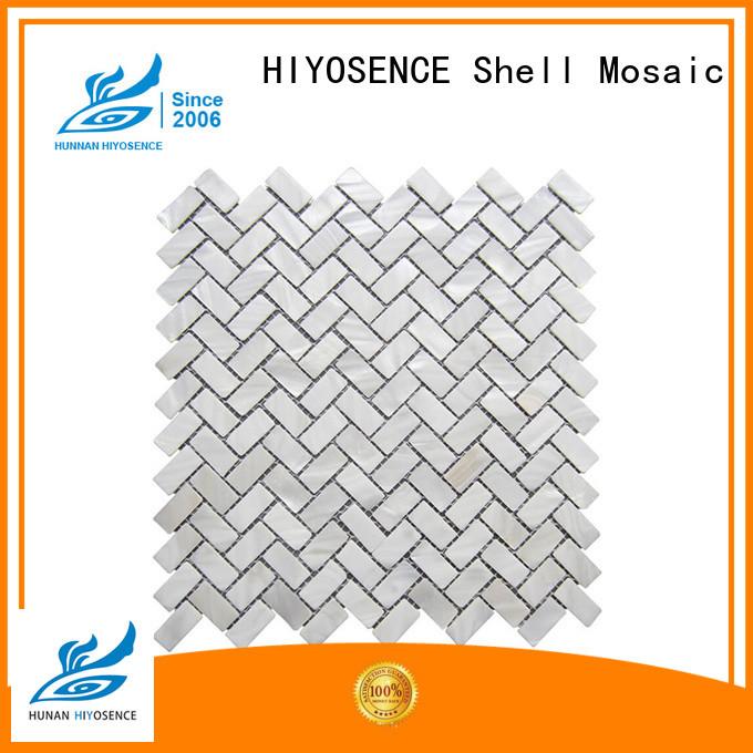 HIYOSENCE fashion design mother of pearl floor tile marketing