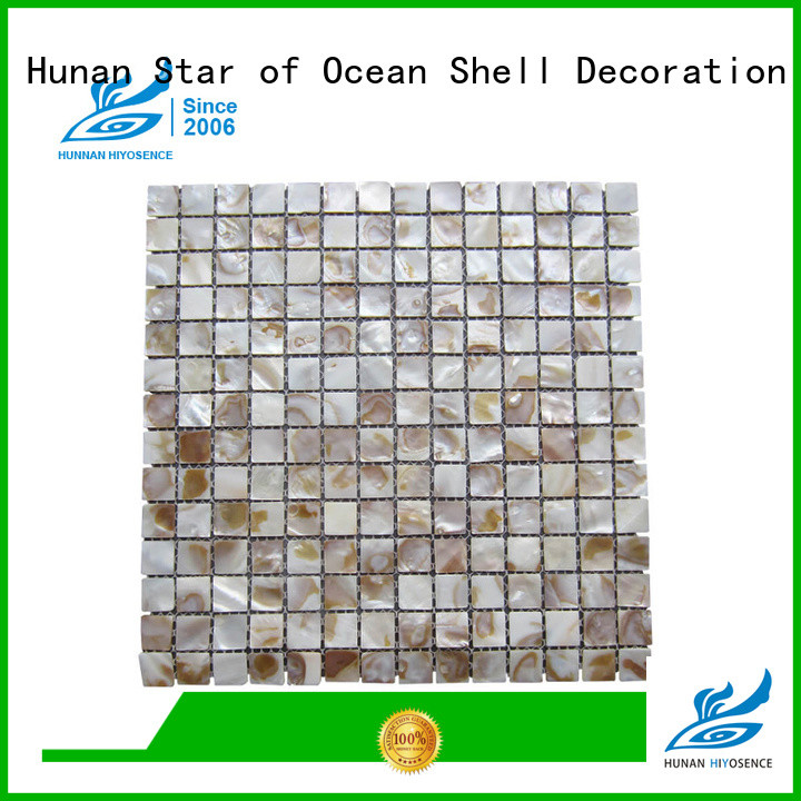 HIYOSENCE pearl shell mosaic tile marketing