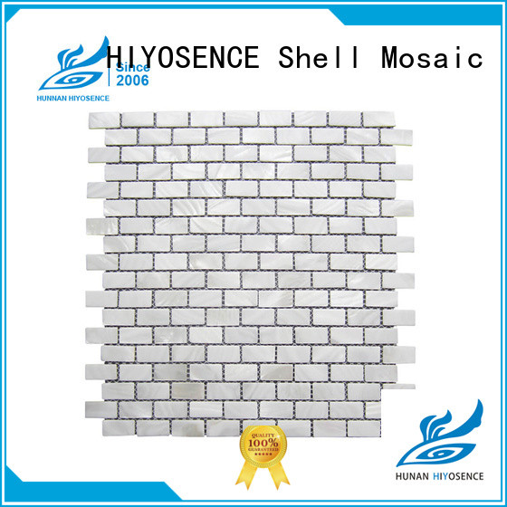 HIYOSENCE inexpensive white hexagon pearl shell tile for hotel