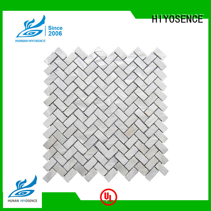 HIYOSENCE fashion design shell tile overseas market for decoration