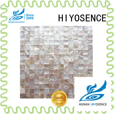 HIYOSENCE fashion design Fan-shaped shell mosaic tile factory price for decoration