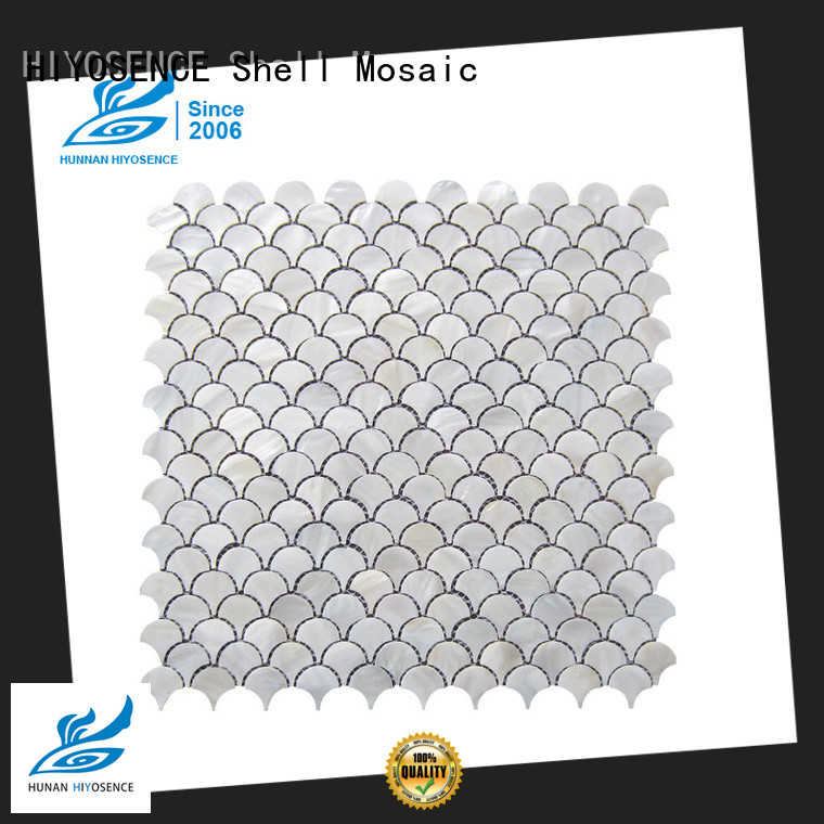 luxury shell mosaic with joint marketing for swimming pool