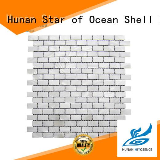HIYOSENCE luxury seashell tile overseas market for swimming pool