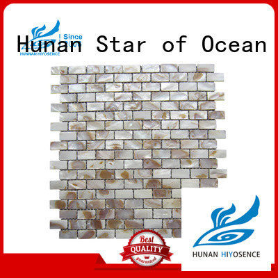 HIYOSENCE widely used pearl shell mosaic tile with good price for living room