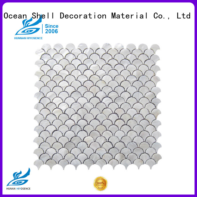 HIYOSENCE fashion design pearl shell tile overseas market for decoration
