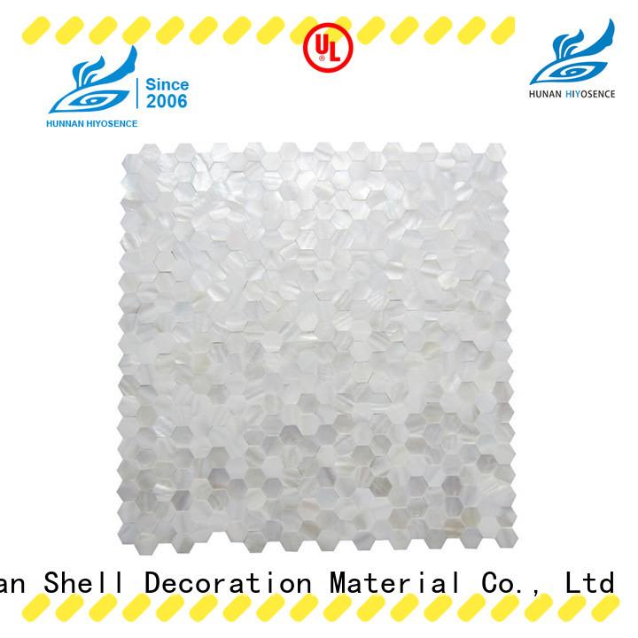HIYOSENCE fashion design pearl glass mosaic tile marketing for toilet