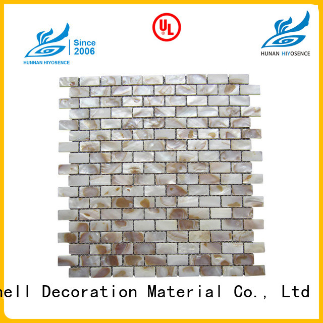 luxury shell mosaic tile marketing for swimming pool