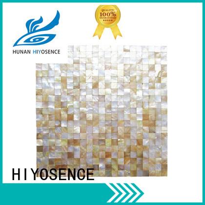 HIYOSENCE mother of pearl mosaic bathroom tiles overseas market for toilet
