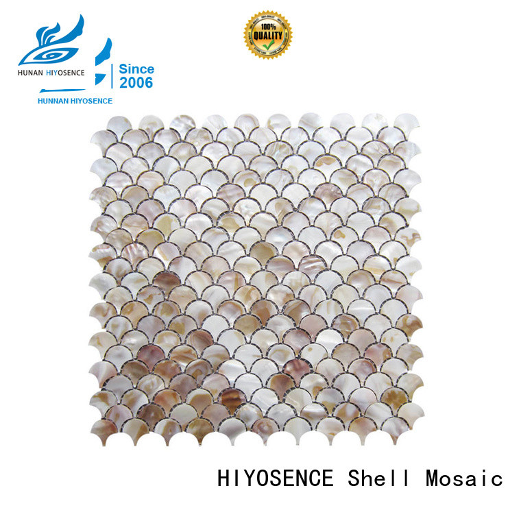 HIYOSENCE inexpensive white pearl mosaic tile for toilet