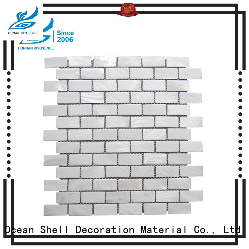 HIYOSENCE good quality white mother of pearl tile factory price for living room